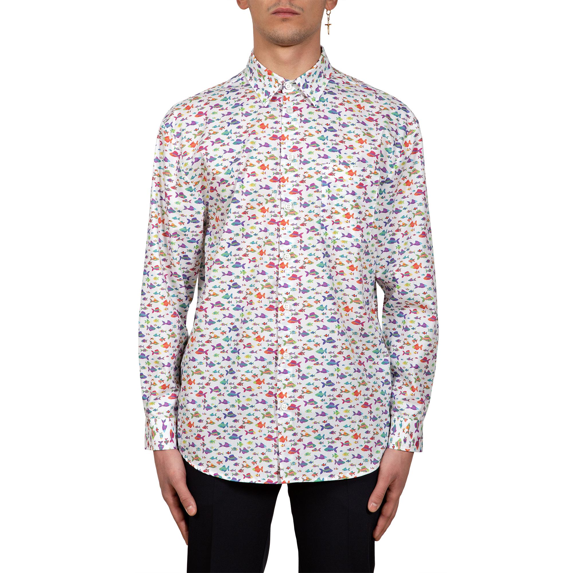 camicia pesci multicolor